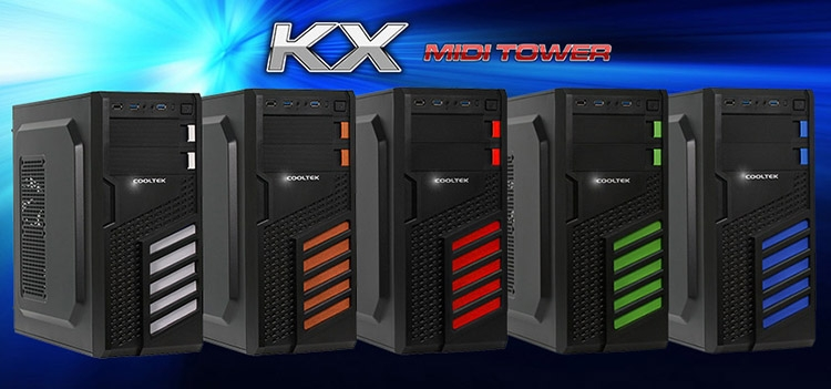 Cooltek выпустила трио недорогих корпусов серий MT и KX