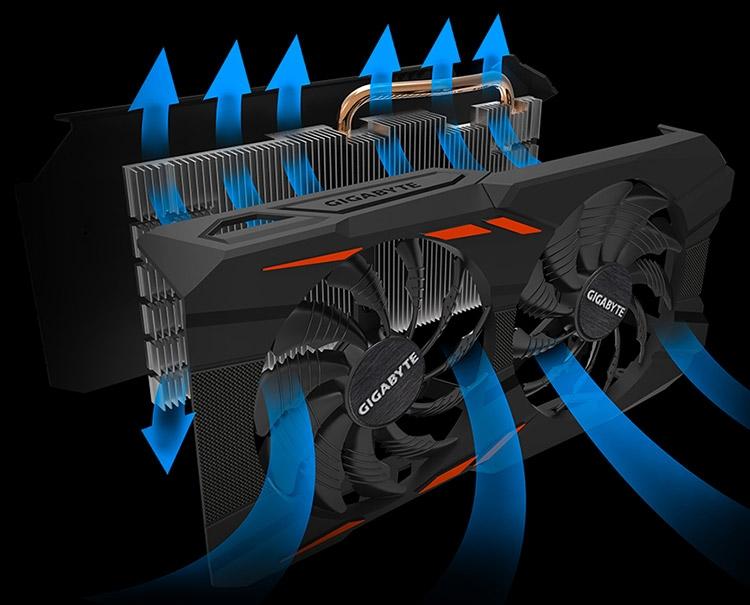 Новые карты Gigabyte GeForce GTX 1050/1050 Ti получили СО WindForce 2X
