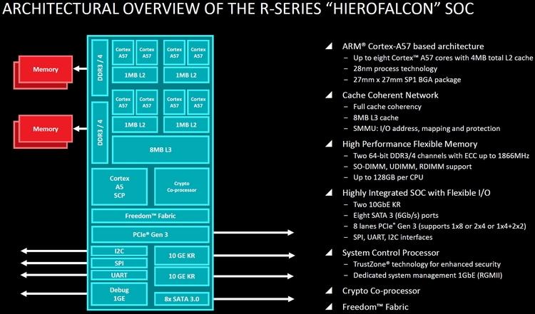 AMD Hierofalcon: один из вариантов ARM v8