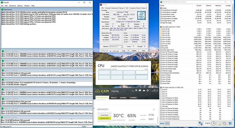 Prime95 «выбил» логическое ядро Core i7-7700K на восьмом часу стресс-тестирования