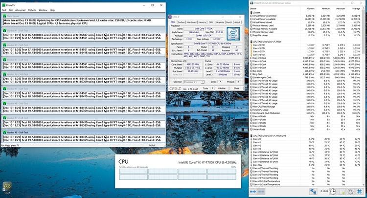 Core i7-7700K: после замены термоинтерфейса