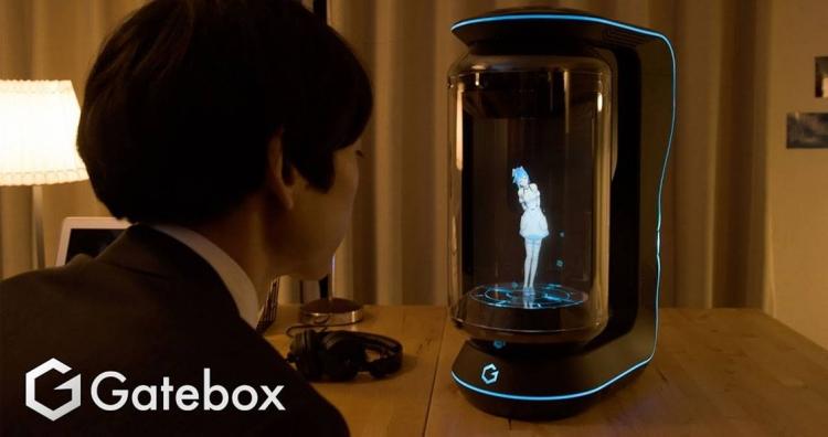 """Смарт-колонкаGatebox: милая голосовая помощница с визуализированным аниме-образом за $2600"""""""