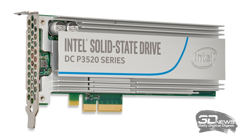 Сумма новых технологий – Intel SSD DC P3520. Один из свежих NVMe SSD компании Intel на базе 3D MLC NAND для серверного рынка