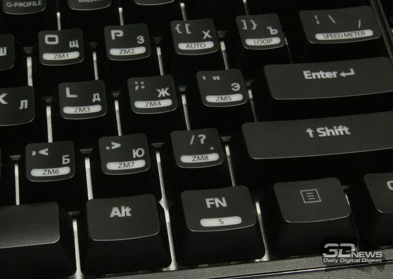 Клавиши для записи макрокоманд