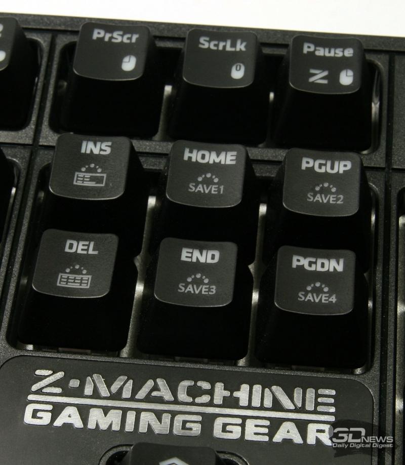 Клавиши для сохранения пользовательских профилей