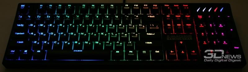 Анимированная подсветка клавиш и фона