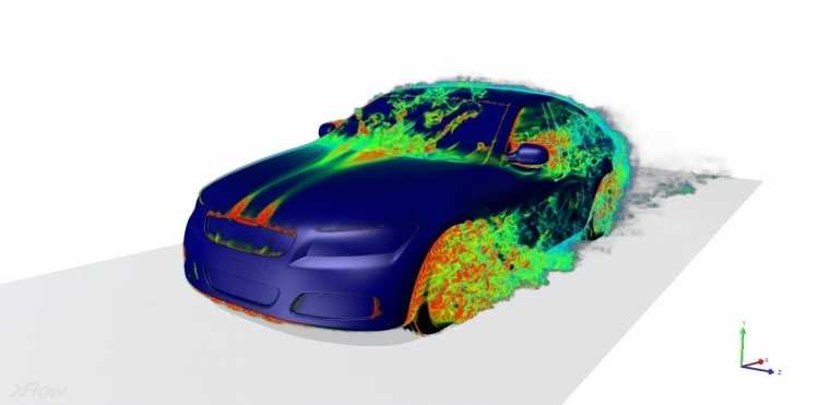 Пример моделирования в системе XFlow
