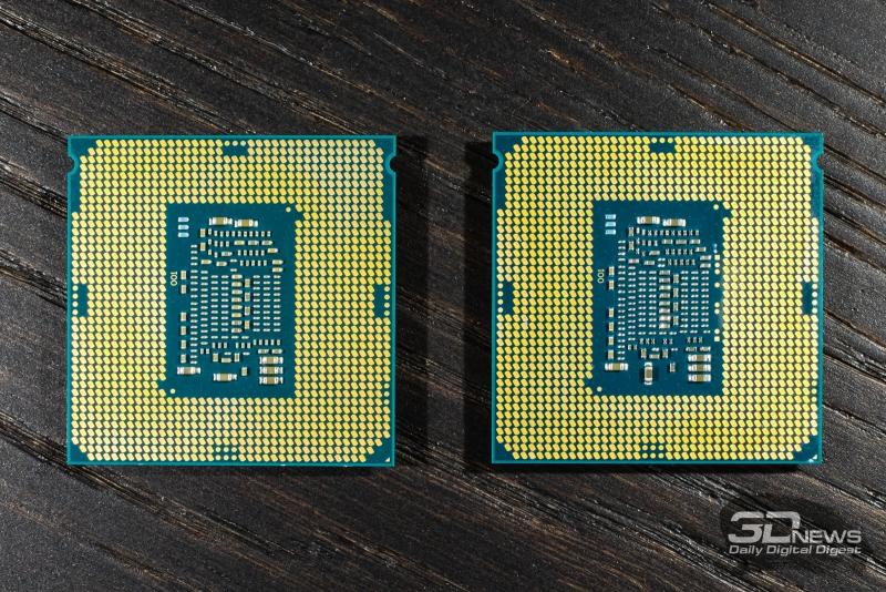 Слева – Core i7-7700K (Kaby Lake), справа – Core i7-6600K (Skylake)
