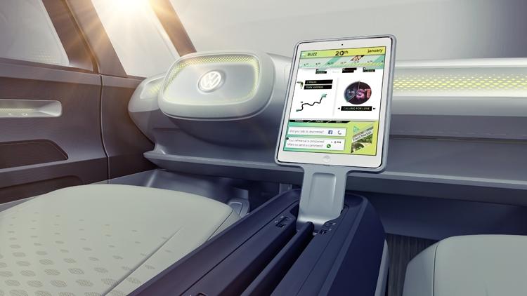 """Volkswagen I.D. BUZZ: электрический микроавтобус с системой автопилотирования"""""""