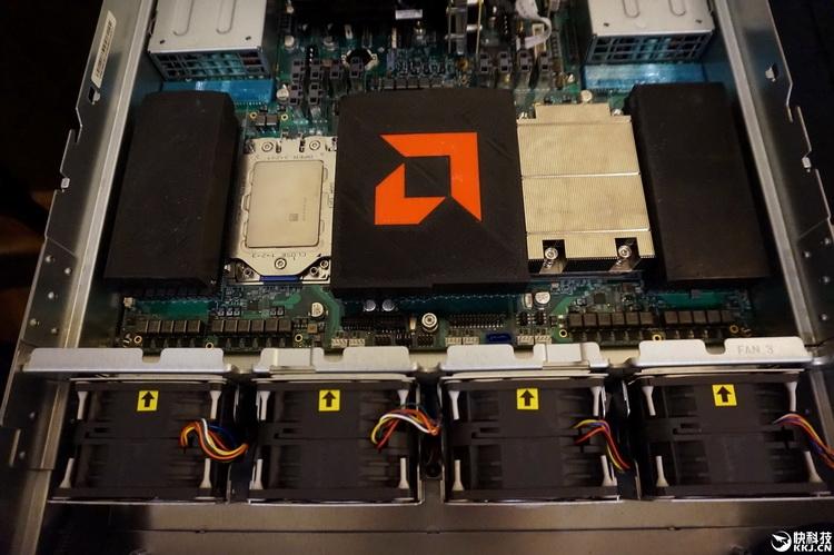 Naples изнутри: процессорные разъёмы LGA, системная логика заботливо прикрыта кожухом