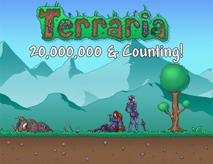 Terraria разошлась тиражом больше 20 млн копий