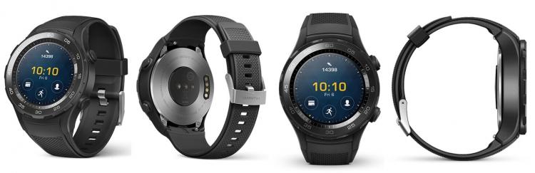 Официальные изображения смарт-часов Huawei Watch 2 в трёх цветовых вариантах