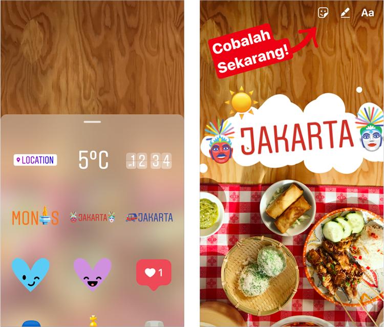 Социальная сеть Instagram  создал геостикеры для нескольких городов