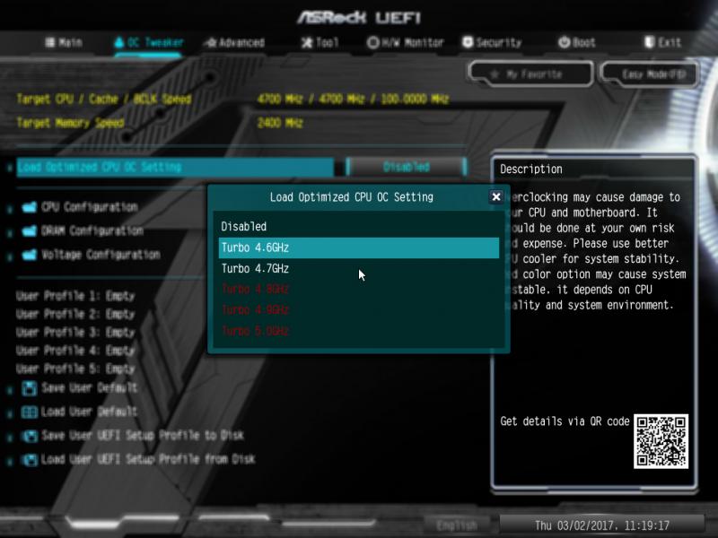 Авторазгон процессора при помощи ASRock Z270 Pro4