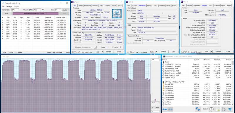 Разгон процессора по множителю при помощи ASRock Z270 Pro4