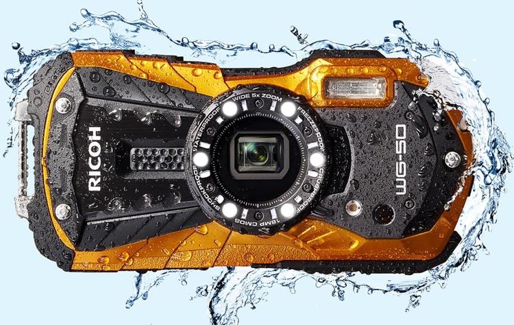 фотокамера ricoh wg-50 боится погружений воду глубину метров