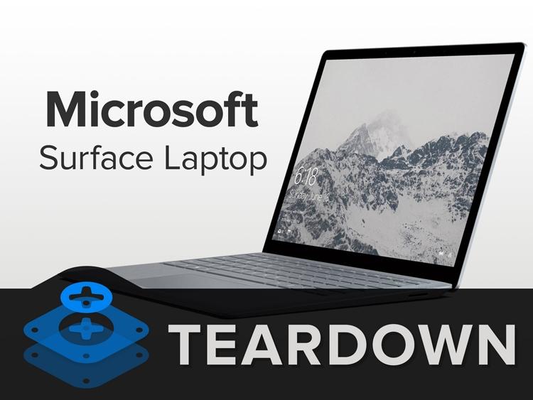 Вскрытие Microsoft Surface Laptop: отремонтировать ноутбук невозможно