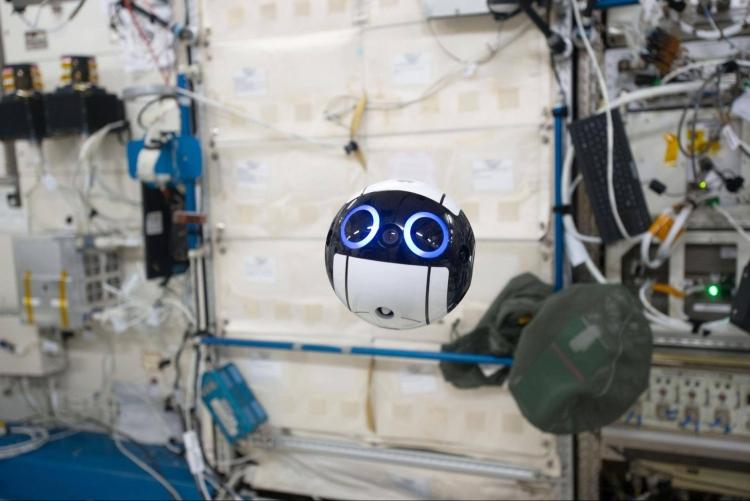 японский дрон int-ball камерой мкс контролируется земли