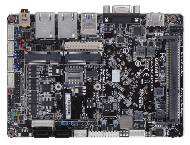 Новая мини-плата GIGABYTE оснащена чипом Intel Apollo Lake