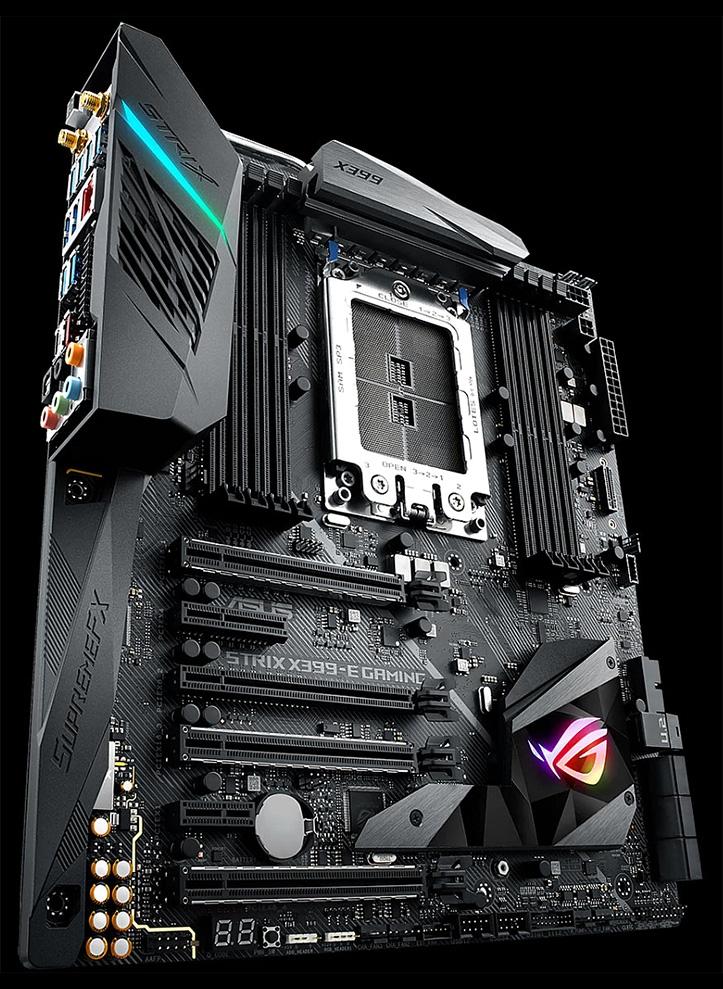 ASUS показала новую плату ROG Strix X399-E Gaming