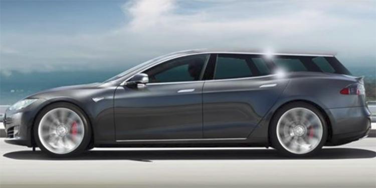 В Европе может появиться универсал на базе электромобиля Tesla Model S