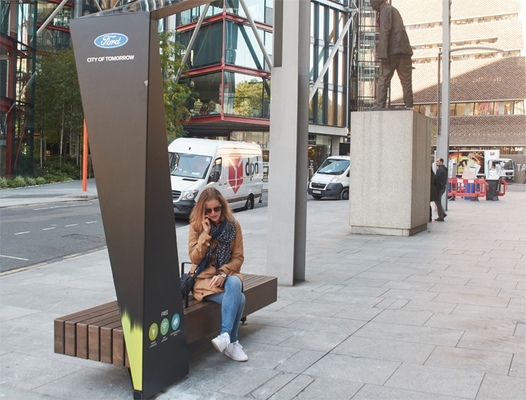 лондоне появятся умные скамейки ford