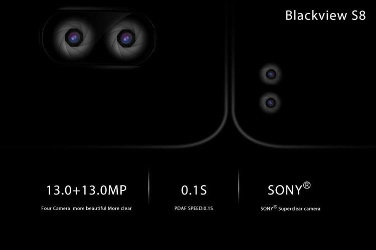 Получите безрамочный смартфон Blackview S8  с четырьмя камерами бесплатно