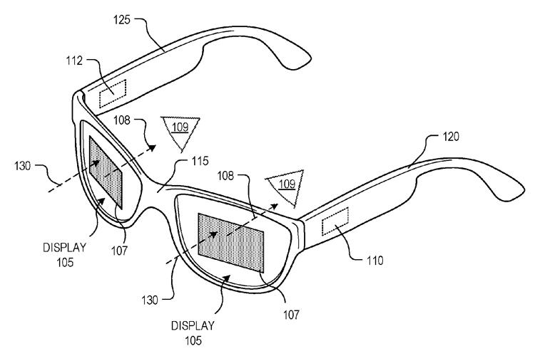 google патентует умные очки новой конструкцией
