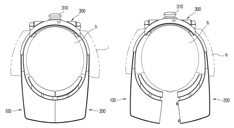 LG патентует VR-шлем с необычной «раздвоенной» конструкцией