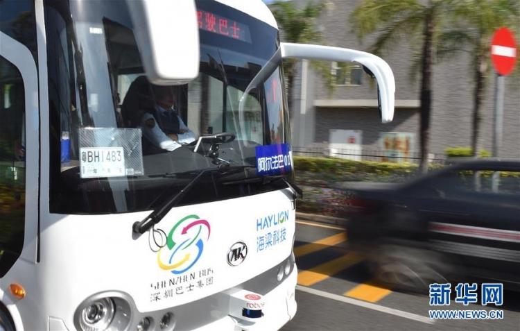 В Китае провели испытания самоуправляемых автобусов на дорогах общего пользования