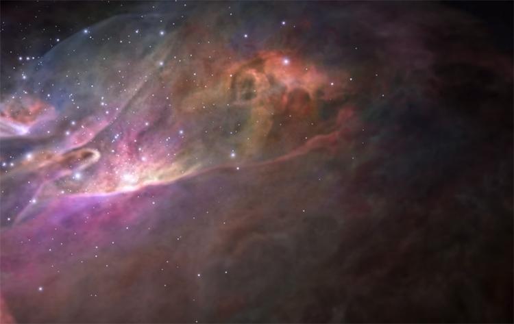Видео дня: удивительный полёт сквозь туманность Ориона