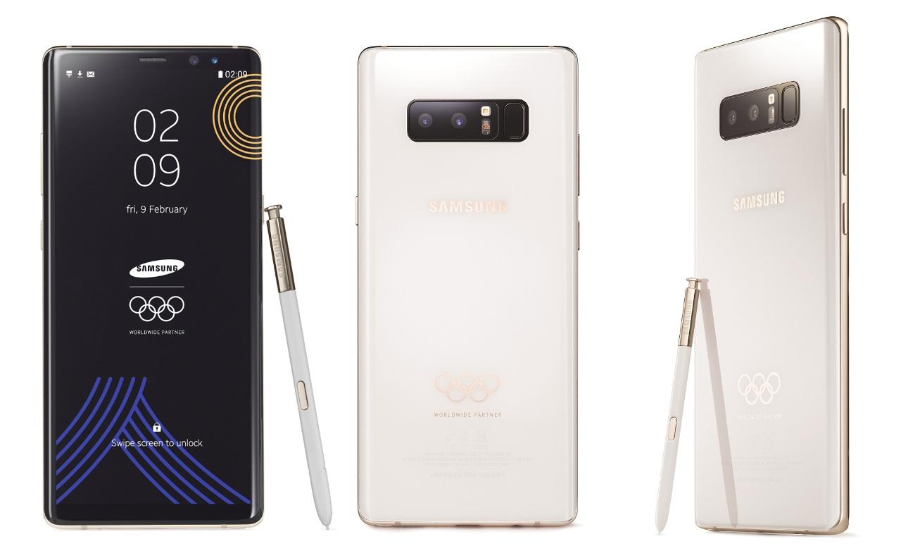 Samsung подготовила к зимней Олимпиаде 2018 специальную версию Galaxy Note8