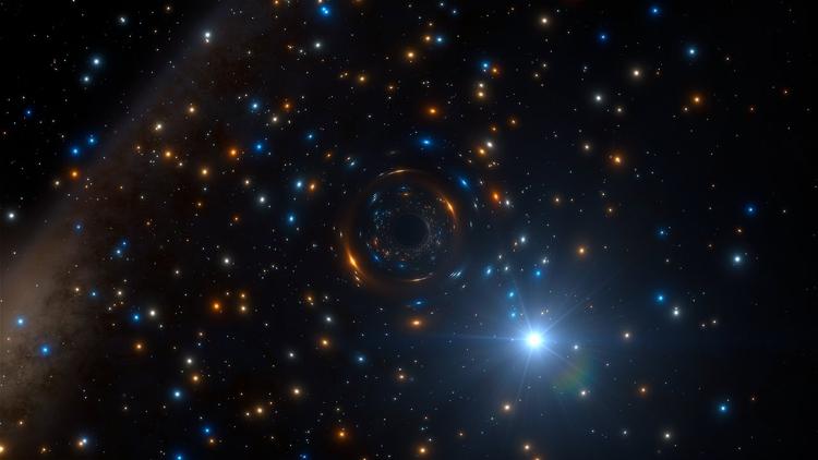 В гигантском звёздном скоплении обнаружена «скрытная» чёрная дыра