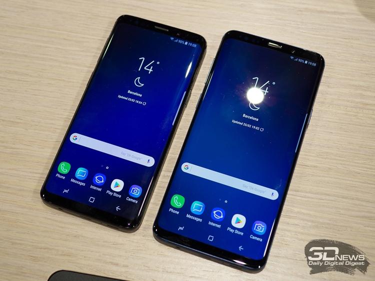 Samsung рассчитывает поставить в 2018 году около 43 млн смартфонов Galaxy S9/S9+
