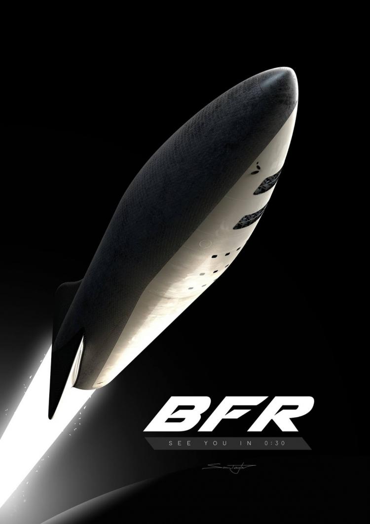 В 2019 году SpaceX начнёт тестовые запуски ракеты BFR, предназначенной для полётов на Марс