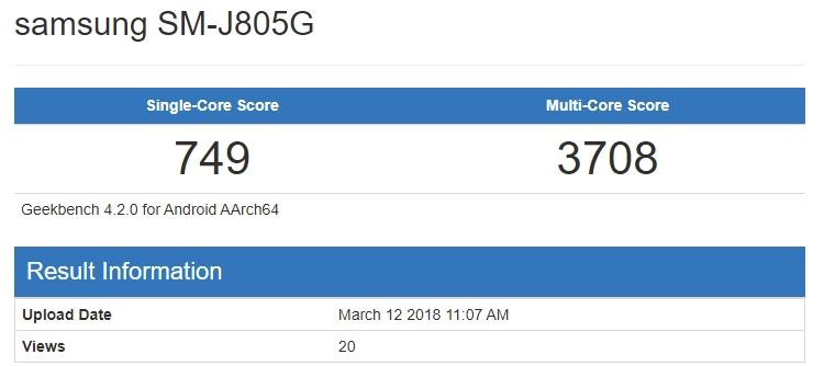 Бенчмарк говорит о подготовке смартфона Samsung Galaxy J8 Plus с чипом Snapdragon 625