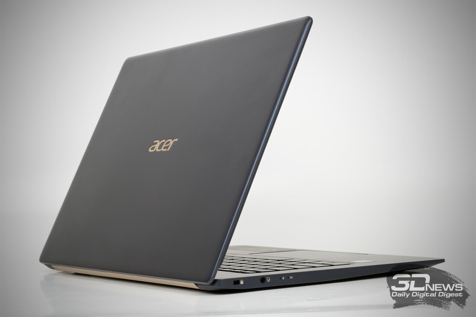 Новая статья: Обзор ноутбука Acer Swift 5: нет времени созерцать — надо работать