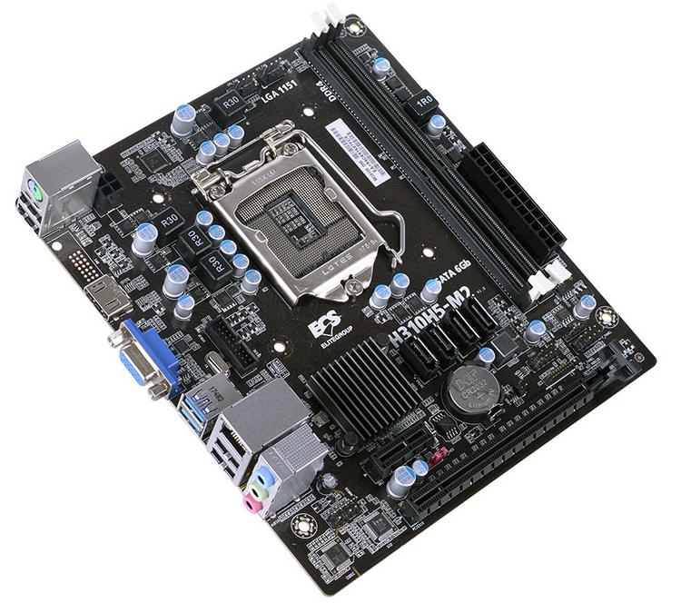 Плата ECS H310H5-M2 позволит сформировать компактный ПК с чипом Coffee Lake