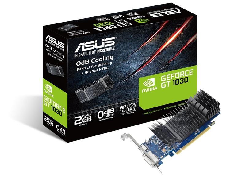 Новый ускоритель ASUS GeForce GT 1030 не производит шума при работе
