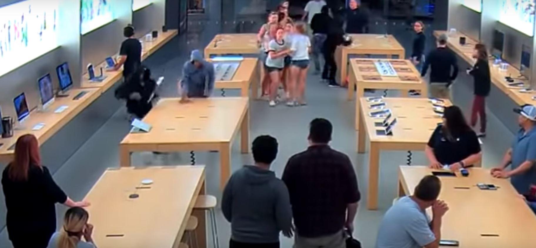 Воры молниеносно ограбили Apple Store в Калифорнии на $27 тысяч