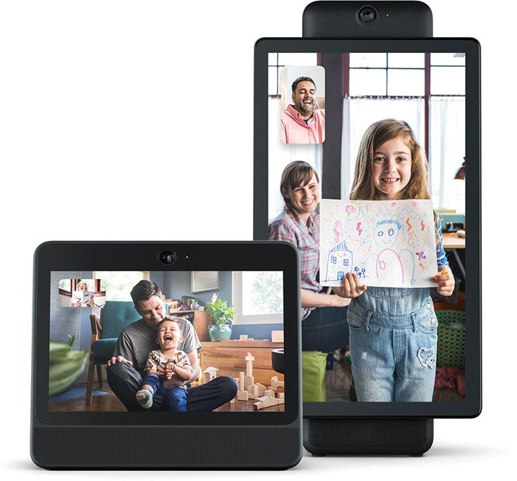 Facebook представила экраны Portal и Portal+ для видеочата