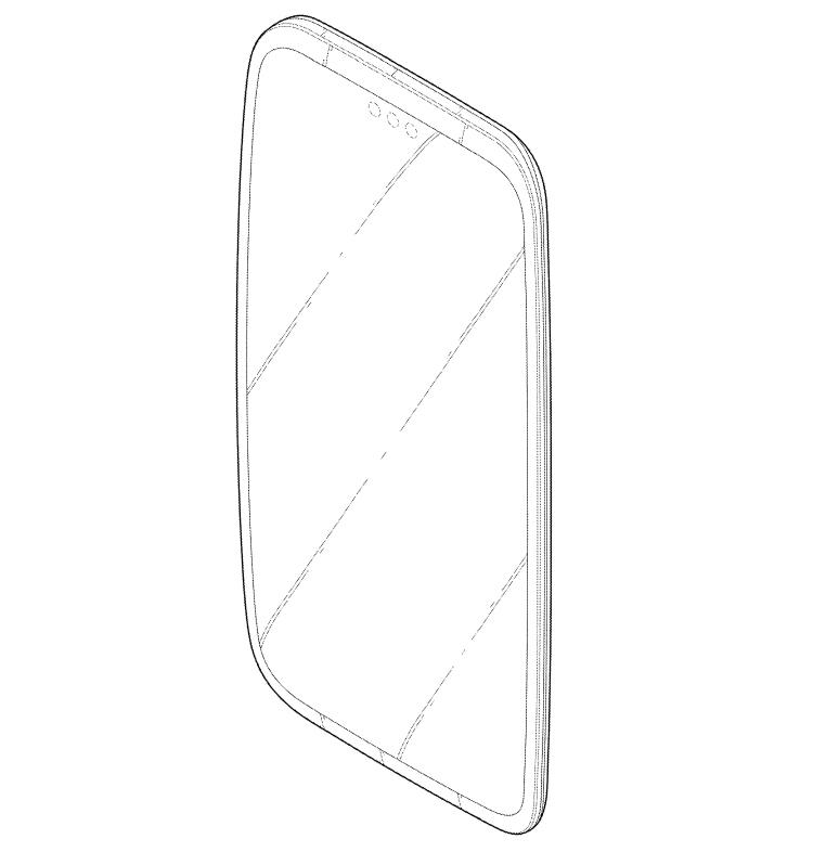 LG запатентовала смартфон с тройной селфи-камерой