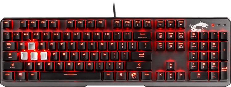 клавиатура msi vigor gk60 игр повседневного использования