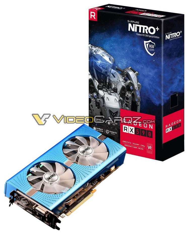Видеокарта Sapphire Radeon RX 590 Nitro+ Special Edition в фотографиях