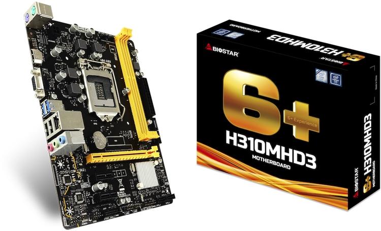 Biostar H310MHD3: плата формата Micro-ATX для процессоров Intel Coffee Lake