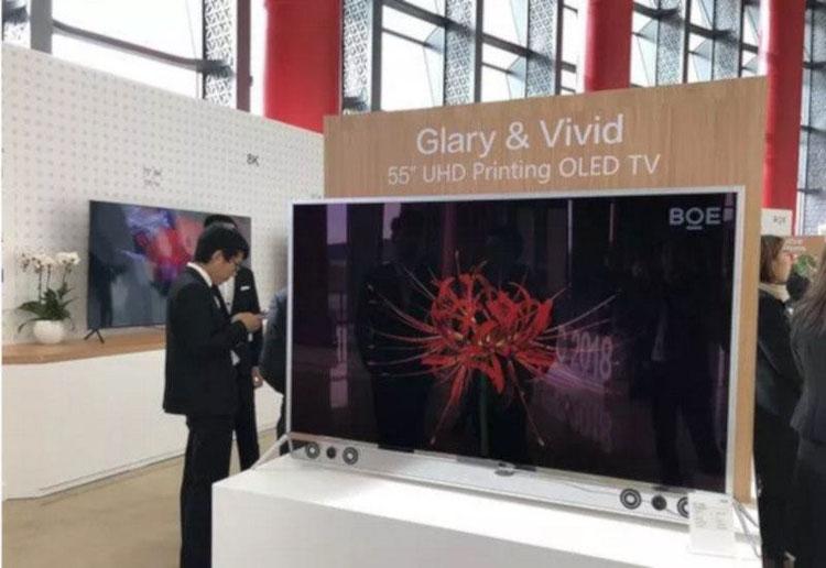 Китайская компания BOE напечатала 55-дюймовый OLED-экран