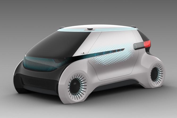 CES 2019: Концепт-робомобиль Hyundai Mobis с системой световых коммуникаций