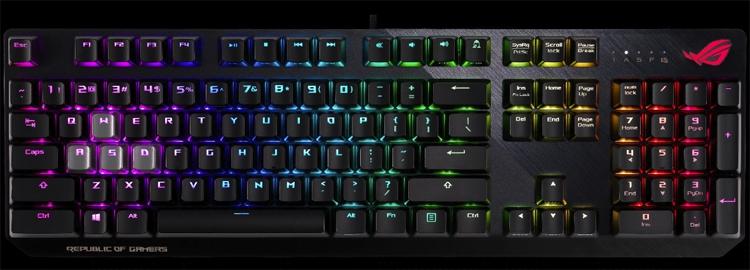ces 2019 клавиатура asus rog strix ctrl адресована