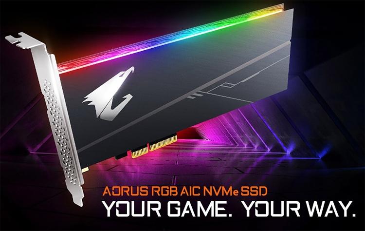 CES 2019: Накопители GIGABYTE Aorus RGB SSD в различных форм-факторах