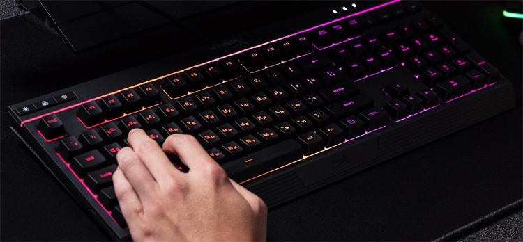 hyperx alloy core rgb мембранная клавиатура многоцветной подсветкой